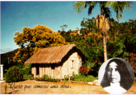 Casebre onde iniciou a Congregaçao